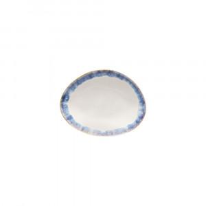 Brisa Teller flach oval 15.4 x 12 cm blau