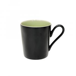 Riviera Henkelbecher, schwarz-hellgrün