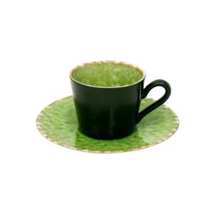 Riviera Tasse und Untertasse, grün