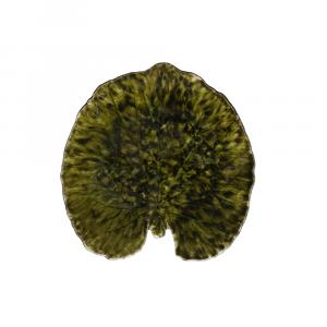 Riviera Teller Alchimille-Blatt ø 18 cm tannengrün