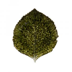 Riviera Teller Hydrangeablatt ø 22 cm tannengrün