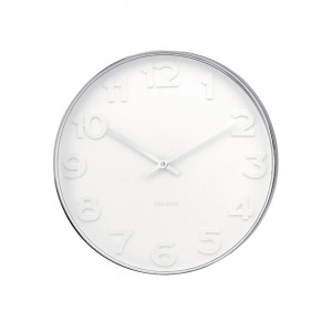 Wanduhr Mr. White ø 37.5 cm, Karlsson