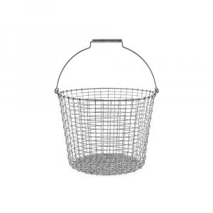 Korbo Bucket 24 L, ø 38 cm, Drahteimer aus Edelstahl