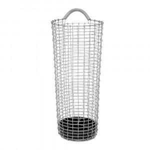 Korbo Umbrella Stand H 50 cm, Korb aus Edelstahl