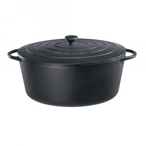 Bratentopf oval mit Gussdeckel L 42.3 cm Küchenprofi