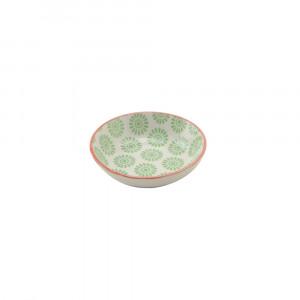 Haynan Schale grün, Rand rot ø 9 cm