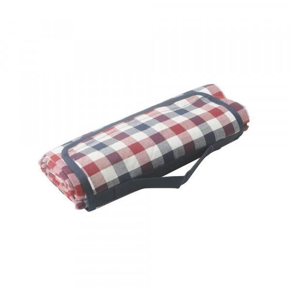 Picknickdecke Karo rot blau weiss