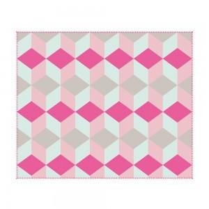 Flauschdecke Block pink, present time