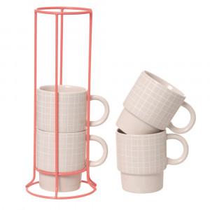 Cappuccinotassenturm Grid, 6er Set, present time