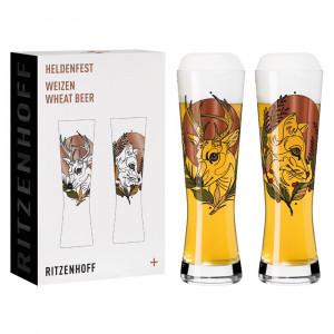 Weizenbierglas 2er Set Heldenfest no.3 Ritzenhoff